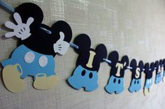 Mickey Mouse baby shower decorations Baby Mickey baby shower boy banner blue It's a boy Ready to pop baby Mickey birthday party decorations