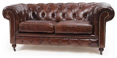 London Chesterfield Vintage Leather Sofa