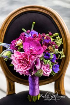Radiant Orchid #wedding bouquet