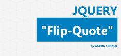 Flip Quote jQuery Plugin