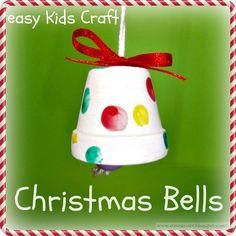 Gifts For Kids Christmas Bells easy kids craft… Made from painted clay pot, but … Navidad Simple, Navidad Diy, Christmas Bells, Simple Christmas, Christmas Christmas, Beautiful Christmas, Father Christmas, Christmas Music, Christmas Jewelry