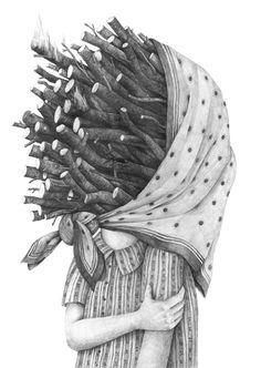 Drawings 2014 part 3 by Stefan Zsaitsits, via Behance
