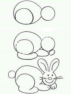 Easy Drawings How To . # # simple drawings # Easy Drawings How To . # # simple drawings # Easy Drawings How To . # # simple drawings # Easy Drawings How To . Easy Bunny Drawing, Rabbit Drawing, Easy Drawing Tutorial, Drawing Lessons For Kids, Art Lessons, Colorful Drawings, Easy Drawings, Step By Step Drawing, Drawing Techniques