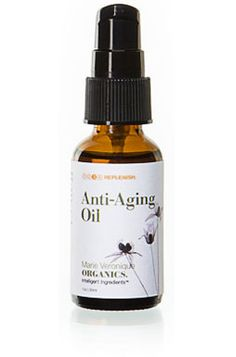 Anti-Aging Oil, from organic skin care company Marie Veronique Organics, combats aging with essential fatty acids and anti-oxidants from sea buckthorn, red raspberry seed and cranberry seed oils, protects and repairs the lipid barrier with essentials.
