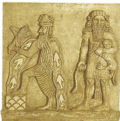 Imagen de http://dragonsrabbitsandroosters.files.wordpress.com/2012/12/gilgamesh-and-enki.jpg?w=535&h=540.