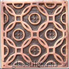 """Wall Master Solid Copper, 2"""" x 2"""", Mission Circles, Antique Copper, Bronze/Copper, Copper"""