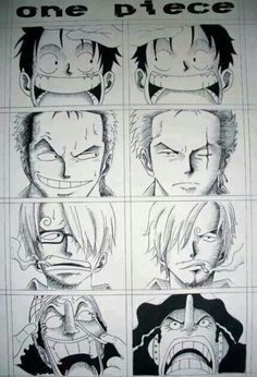 One Piece-Luffy,Zoro,Sanji,Ussop