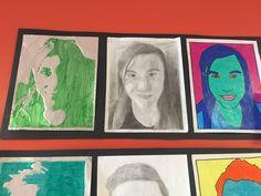 Projet 3 phases à partir d'une photo (3e cycle du primaire): 1- gravure 2-crayon à la mine 3-pop art Cycle, Gravure, Crayon, Pop Art, Teaching, Frame, Photos, Painting, Home Decor
