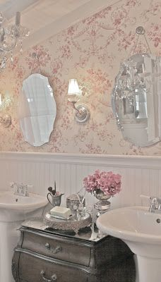 Sweetest French Country Bathroom.