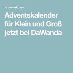 Adventskalender für Klein und Groß jetzt bei DaWanda