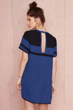 Nasty Gal Touchdown Georgette Dress - Day | Shift | Dresses | All | Clothes |  |  | Dresses