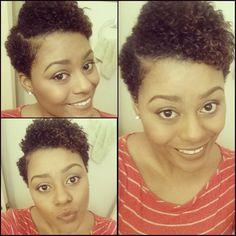 Natural Hair: Flat Twistout TWA