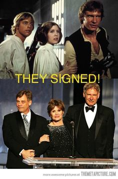 Ford, Hamil and Fisher signed for Star Wars VII… interested to see how this will go!