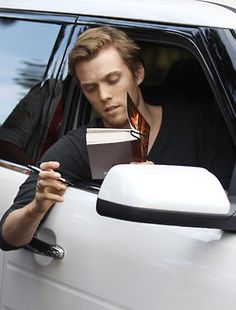 Jake Abel (Luke Castellan) reading the Battle of the Labyrinth.