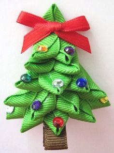 christmas bows hair ribbon - Google Search