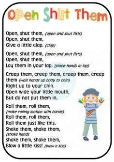Fine motor finger and hand rhymes | Top Teacher - Innovative and creative early childhood curriculum resources for your classroom