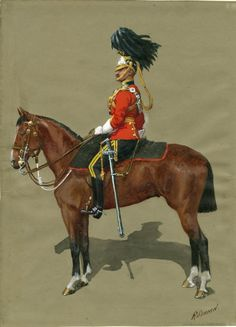 16th The Queen's Lancers, Officer, Review Order, 1908 by R.simkin British Army Uniform, British Uniforms, Military Art, Military History, Military Dresses, Military Uniforms, Osprey Publishing, England, Illustration