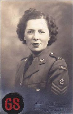 RP; Canadian Women's Army Corps (CWAC) , Staff Sergant , Montreal , Canada , 1944