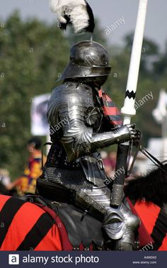 The Black Knight Medieval Jousting Display Stock Photo, Royalty Free Image…