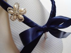 Decorated flip flops, bridal shoes, wedding shoes, wedding sandals, bridal flip flop, star sandals, bridal sandals, navy blue flip flops. $32.00, via Etsy.