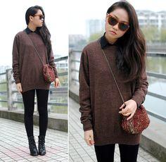Oversized sweater (by Meijia S) http://lookbook.nu/look/4744641-oversized-sweater