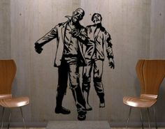 Best Quality Vinyl Wall Sticker Decals - Zombies ( Size: 16in x 22in - Color: golden yellow ) - No: 2063 by Wall Spirit. $38.95. Fast delivery with FedEx and Free Shipping for orders of $65 and over. Choose from over 750 exclusive designs in over 30 different colors from small to giant size wall decals. Service Hotline Mon-Fri from 9-5 PST 877 493-1690. Application instructions included. Magical wall designs, wall decals, wall words, wall clocks and wall hangers from Wall Sp...
