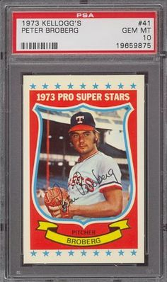1973 Kellogg's #41 Peter Broberg Rangers PSA 10 by Kellogg's. $12.25. 1973 Kellogg's #41 Peter Broberg Rangers PSA 10. If multiple items appear in the image, the item you are purchasing is the one described in the title.