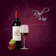 Red Wine Icon Set
