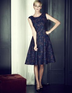 Full Skirt Dress BH049 Above Knee Dresses at Boden