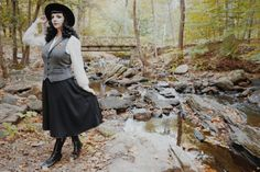 {SLEEPY HOLLOW} Vintage style spooky fall outfit inspired by Tim Burton & Johnny Depp in the real Sleepy Hollow, New York Modern Vintage Fashion, Vintage Style, Tim Burton Johnny Depp, Sleepy Hollow, Fall Outfits, Midi Skirt, High Waisted Skirt, Ballet Skirt, Autumn