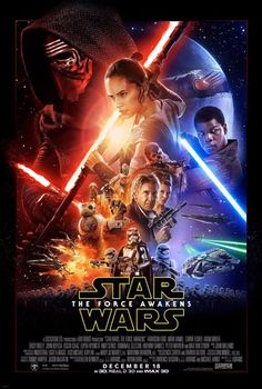 STAR WARS THE FORCE AWAKENS Original Double-Sided 27x40 Theatrical Movie Poster!