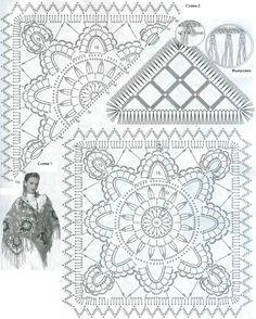 pattern for shawl unit crochet pattern chal