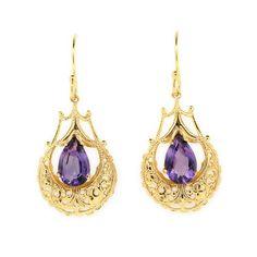 antique amethyst jewelry | Vintage Amethyst Earrings