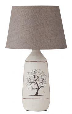 DORA Rabalux - stolová lampa- textil+keramika - 400mm- strom