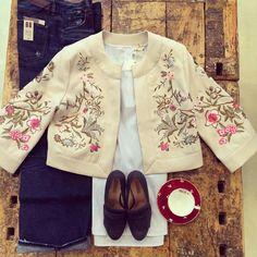Bellissimo outfit del negozio Le MASCHIETTE con giacca Darling London Emoticon heart #lemaschiette#lecosechecipiacciono#NowOnStore#october#autumn