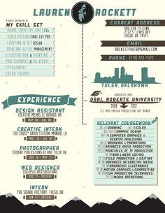 Resume by Lauren Rockett, via Behance