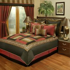 Sherry Kline Jungle Passage Cheetah Bedding...thats hot <3 http://www.home-decorating-co.com/bedding-by-color.html