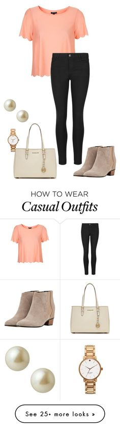 """Casual"" by austin-sarah on Polyvore featuring Golden Goose, Topshop, Indigo Collection, MICHAEL Michael Kors, Kate Spade and Carolee"