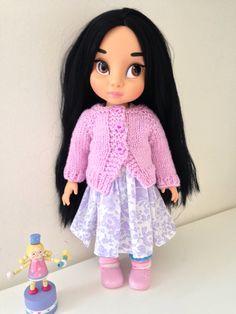 Disney Animator Dolls Clothes - Lilac Handknitted Cardigan - Sweater by SherbetLemoni on Etsy