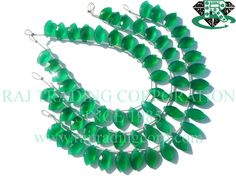 AAA Quality Green Onyx Marquise Faceted Beads, to mm, 18 cm, Semiprecious Gemstone Beads Semi Precious Beads, Semi Precious Gemstones, Tourmalinated Quartz, Pink Amethyst, Bead Store, Green Onyx, Gemstone Beads, Turquoise Bracelet, Beadwork
