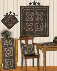North Star Tea Dyed Quilts | Choices Quilts offers North Star Tea Dyed Quilts handmade for you! You can shop online or call us toll-free @ 1-800-572-2070 or 770-641-9700.