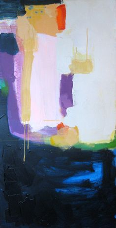 """""""Upon Reflection"""" by Claire Desjardins - 30""""x60"""" - Acrylics on canvas."""