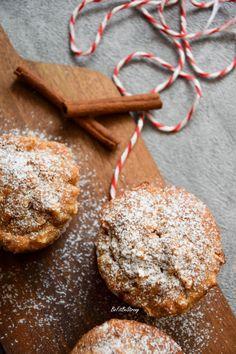 Babeczki owsiane z jabłkiem i wanilią FIT - Just Be Fit Be Strong! Polish Recipes, Good Food, Cookies, Chocolate, Fitness, Desserts, Bujo, Strong, Funny
