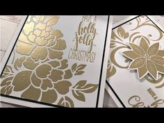 Embossing with Stencils - YouTube