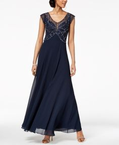 d1e5be5c6b26 J Kara Embellished Illusion Gown - Blue 12 Gala Gowns
