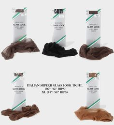 """Glossy sheer glass look tights 15 denier one size 36-42/"""" XL 42/""""-52/"""""""