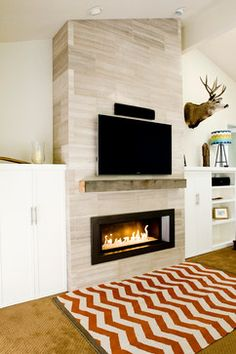 Modern Gas Fireplace Design Ideas, Pictures, Remodel, and Decor - page 3