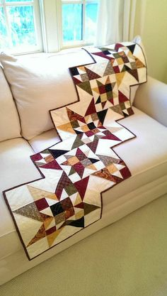 Fall Quilt Table Runner Wall Hanging for by MapleCottageDesigns