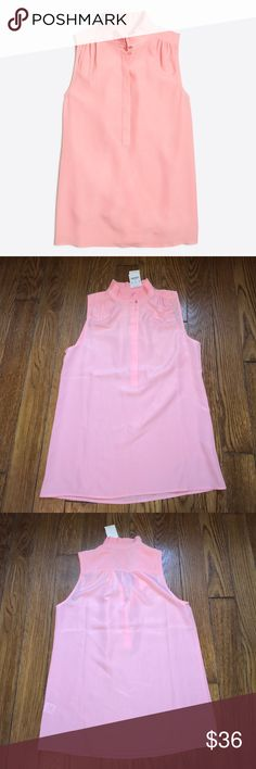 J. Crew Ruffle Cami Pink ruffle cami by J. Crew.   Dressed up or dressed down it looks great with dress pants or even shorts. J. Crew Tops Button Down Shirts