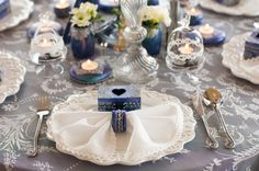 We've long had in mind to use our Winter Fairytale collection in a styled shoot… Wedding Decorations, Table Decorations, Event Design, Wedding Designs, Fairytale, Dream Wedding, Pastel, Hand Painted, Candles